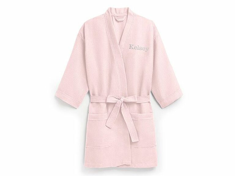 pink comfy robe