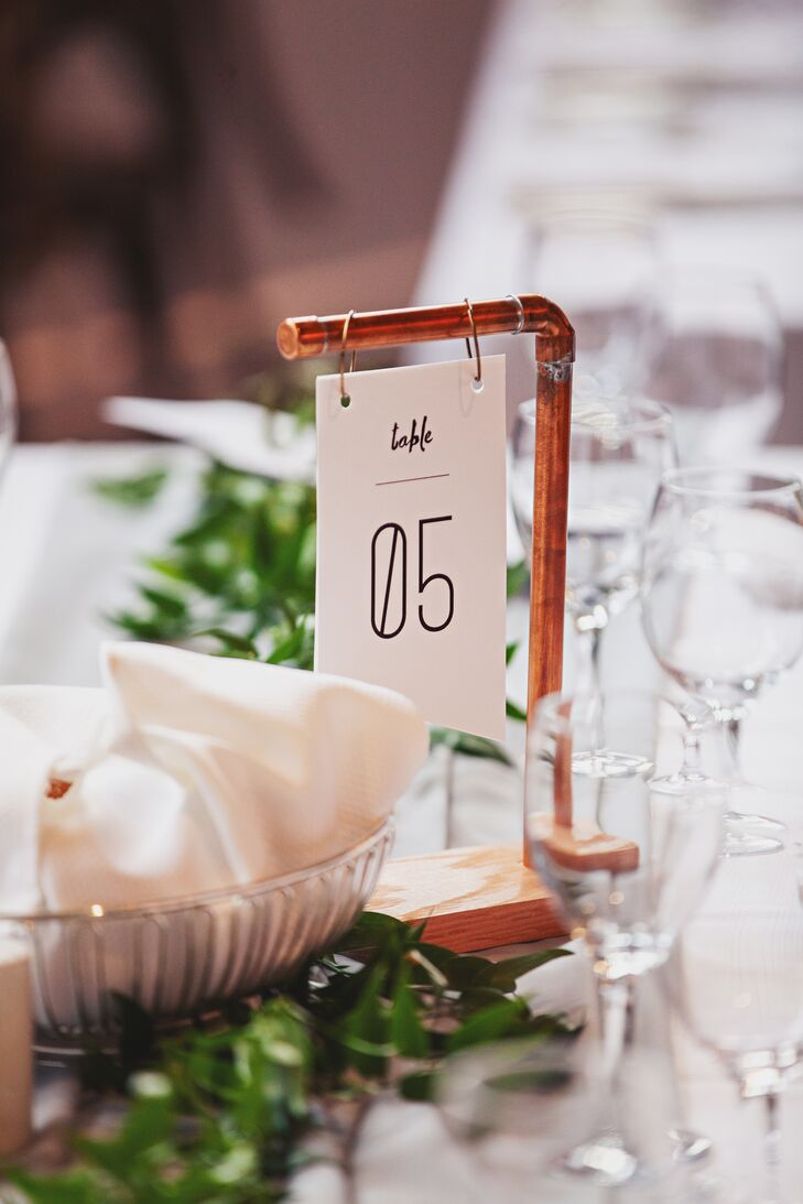 Modern Copper Pipe Table Numbers