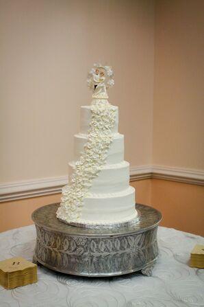 Vintage Cake Topper on Classic Wedding Cake