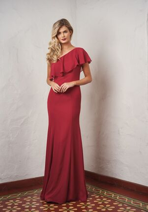JASMINE P216059 One Shoulder Bridesmaid Dress