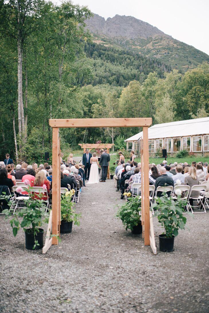 Custom Cedar Wedding Archway
