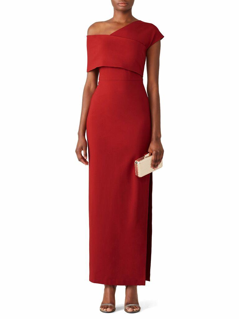 Elliat rust popover gown