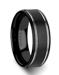 Mens Tungsten Wedding Bands W334-BBPB Tungsten Wedding Ring
