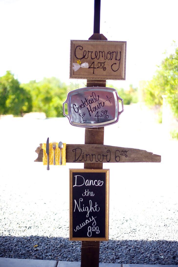 DIY Wedding Signs, Wood Stake