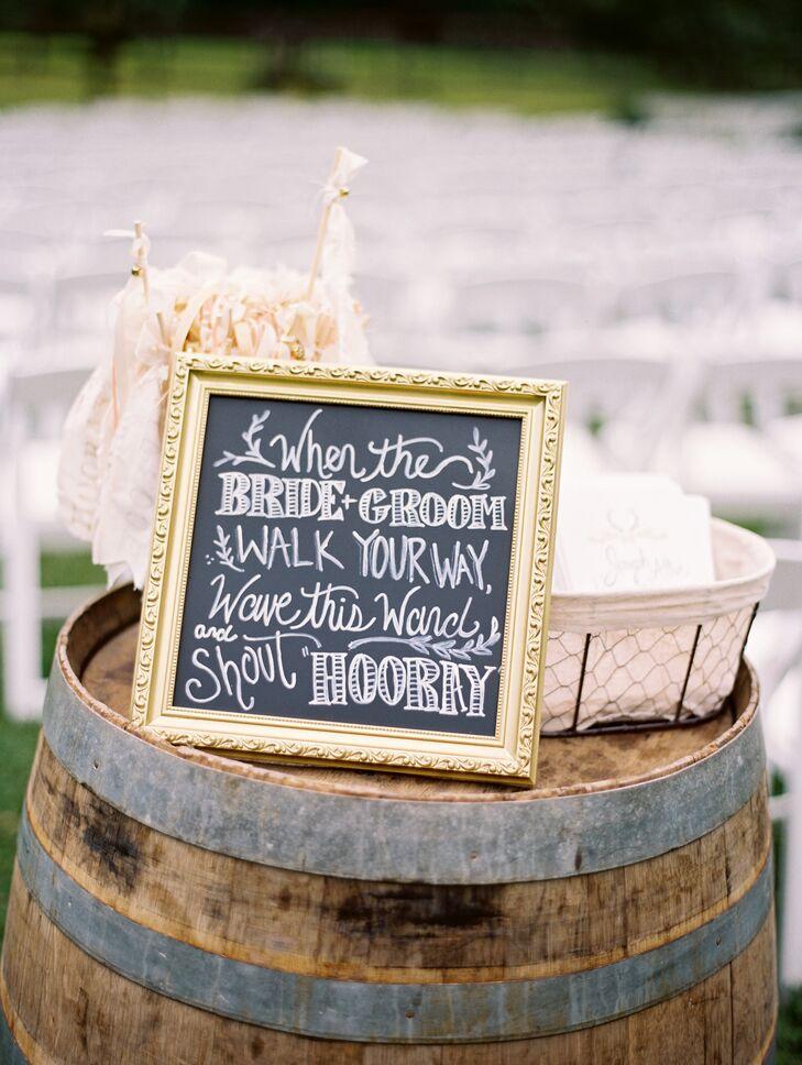 Gilded Chalkboard Sign