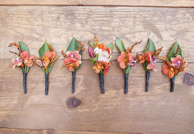 tropical boutonnieres | She Wanders | Blog.theknot.com