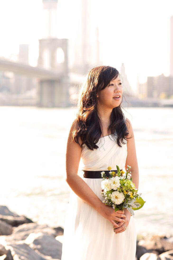 J Crew One Shoulder Wedding Gown