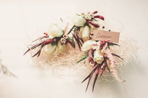 Earthy Groom Boutonniere