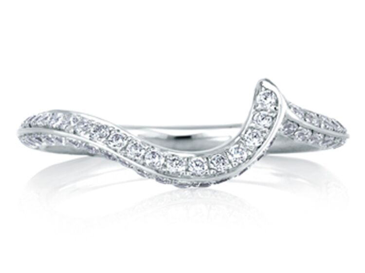 diamond swirl wedding ring