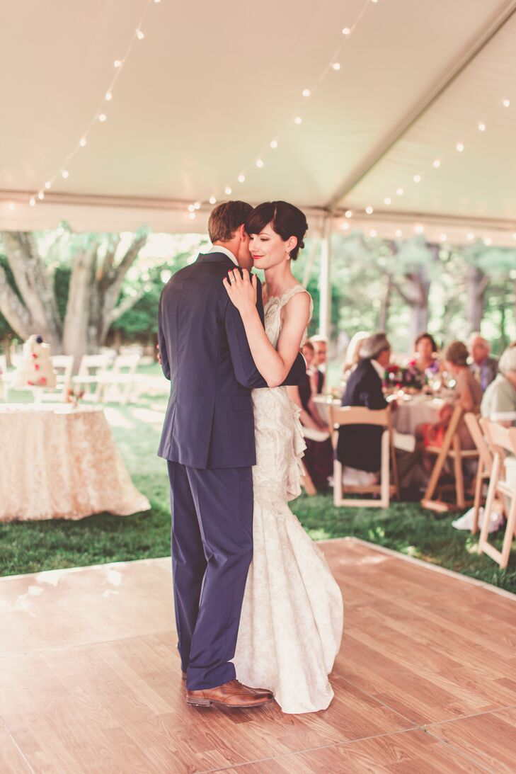 "Kim and Doug shared their first dance to Fiona Apple's ""Across the Universe,"" because it is one of Doug's favorite Beatles songs. The couple was inspired when they heard the song together a few weeks before the wedding."