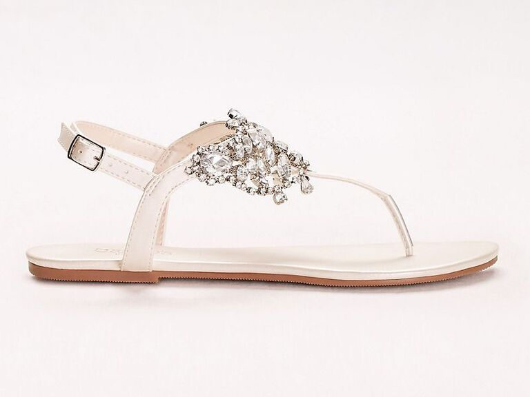 Crystal comfortable wedding sandals