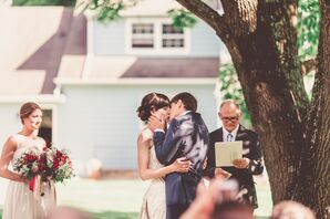 Backyard First Kiss