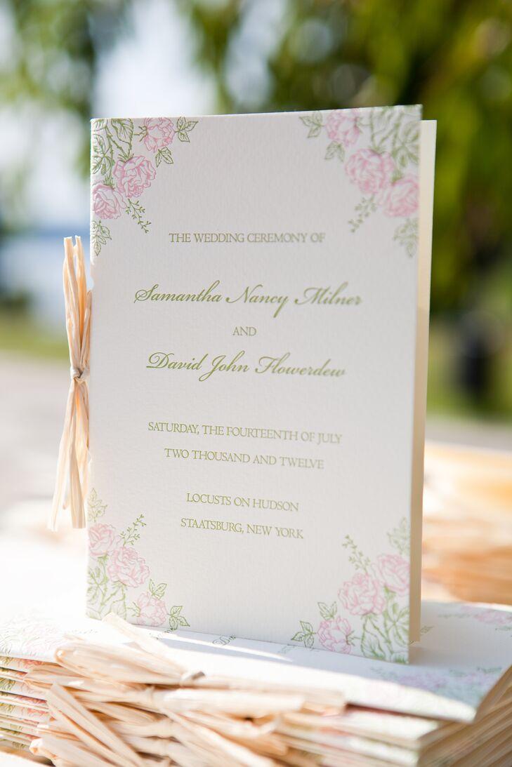 Garden Style Wedding Programs