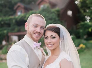 Tyler Mullins, 24, a teacher, married his bride Caitlin Roberts, 20, a nursing student, in a rustic outdoor wedding at Storybrook Farm. The couple fir
