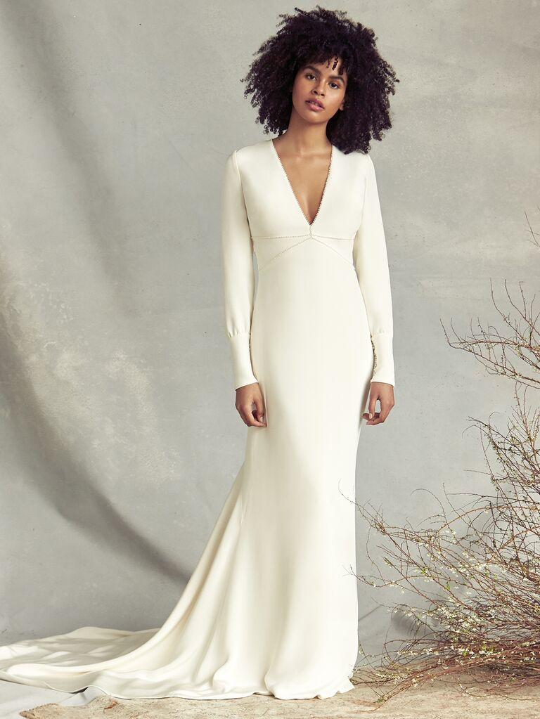 Savannah Miller simple wedding dress