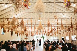 Tented Ceremony, Dried Flower Decor