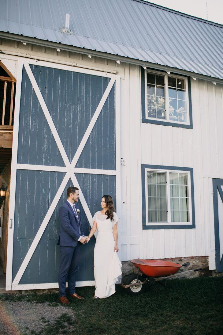 Bride and Groom at Bloom Lake Barn
