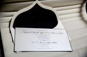 Elegant, Black and White Wedding Invitation