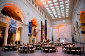 Reception in Stanley Field Hall at Field Museum