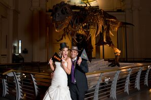 Silly Bride and Groom at Field Museum
