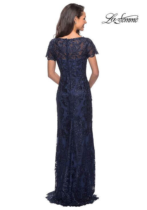 La Femme Evening 26405 Blue Mother Of The Bride Dress