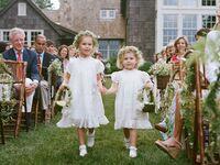 Flower girls at wedding ceremony