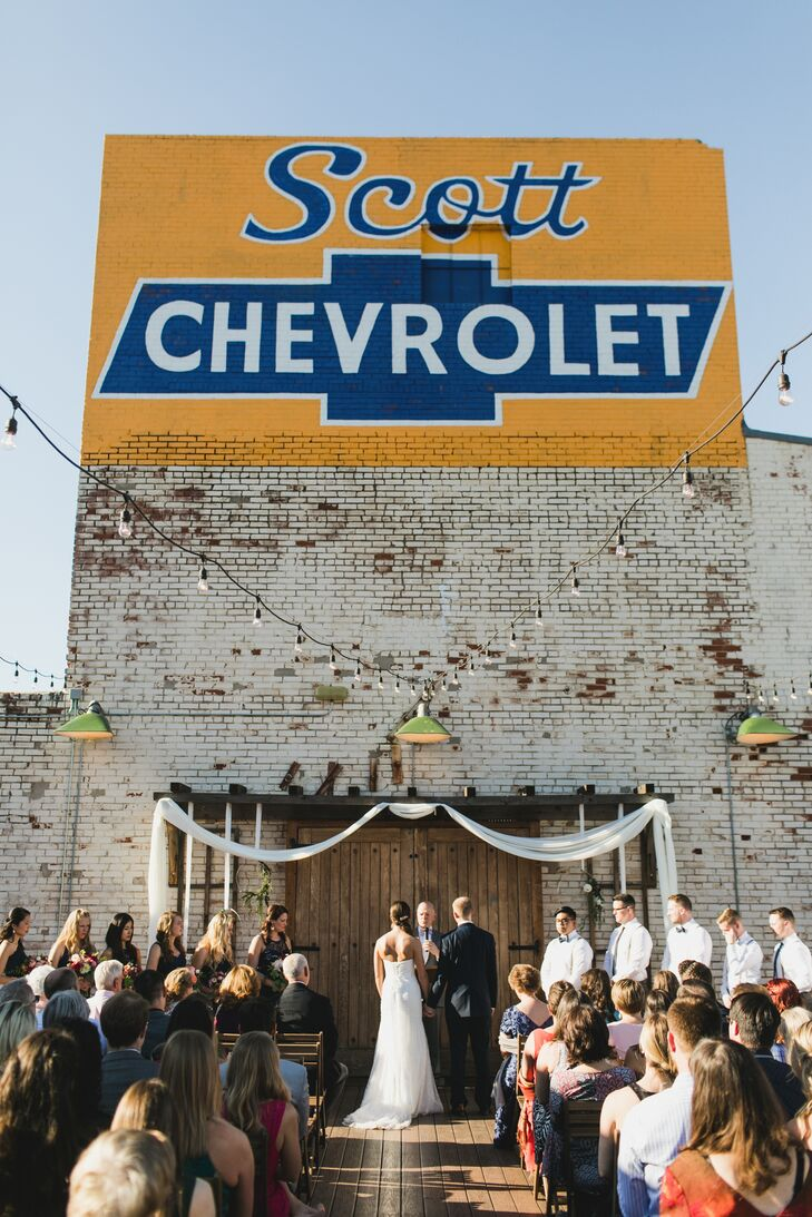 Plenty Mercantile Rooftop Ceremony