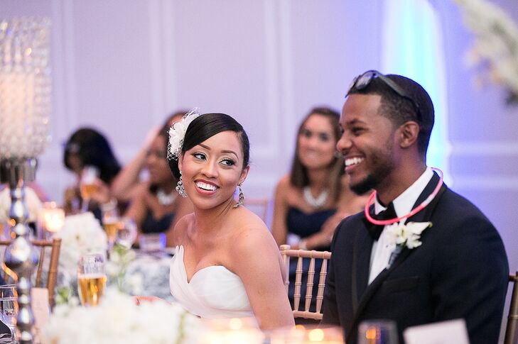 Vashti Gordon (26, program analyst) and Aaron Young (25, contract specialist) attended the same church for three years before running into each other.