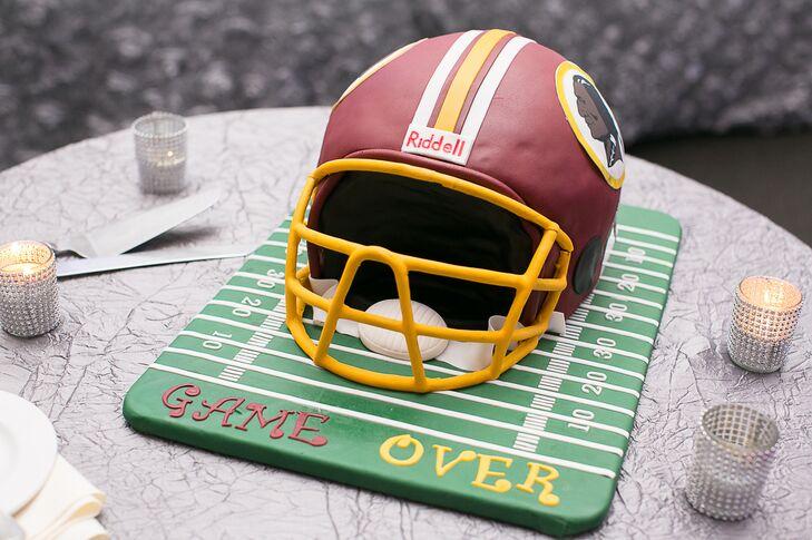"""""""Game Over"""" Football Helmet Cake"""