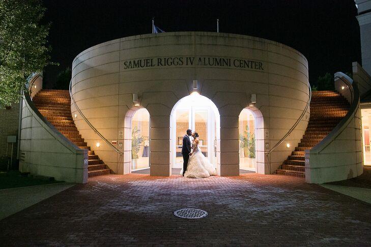 Newlyweds on University of Maryland Campus