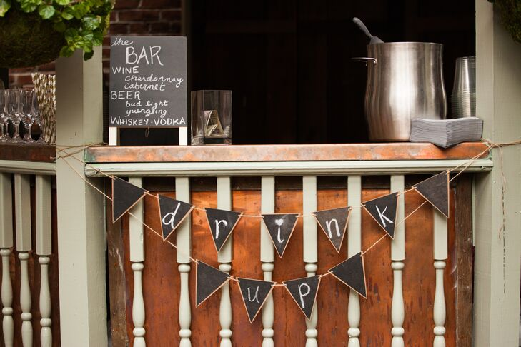 Rustic Chalkboard Bar Signs