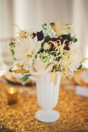 Vintage White Milk Glass Centerpieces
