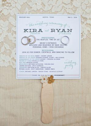 Outdoor Ceremony Programs as Paper Fans