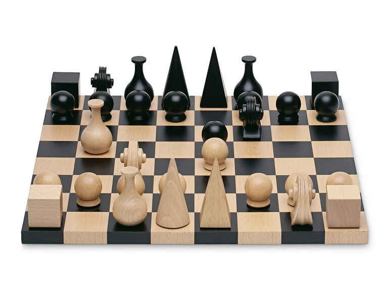 Modern MoMA chess set