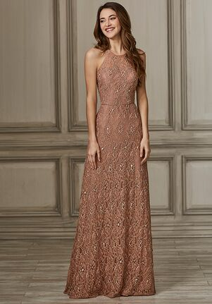 Adrianna Papell Platinum 40142 Halter Bridesmaid Dress
