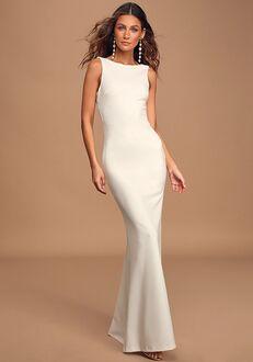 Lulus Love In Your Eyes Ivory Knotted Mermaid Maxi Dress Mermaid Wedding Dress