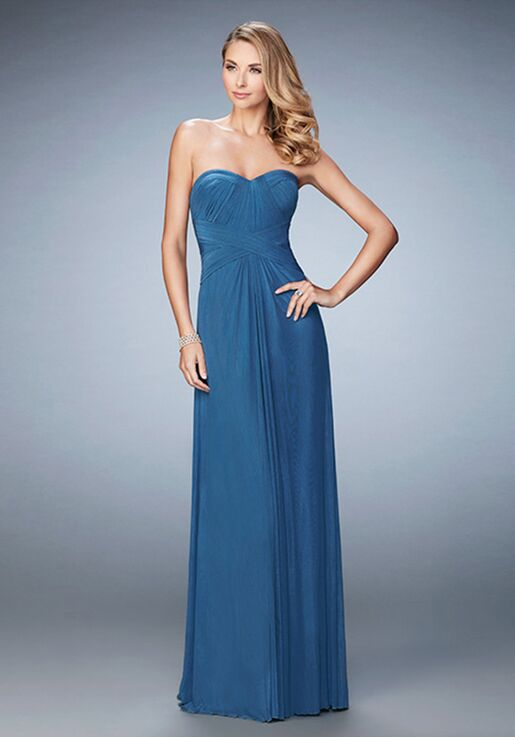 La Femme Evening 23023 Blue Mother Of The Bride Dress