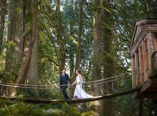 A dreamy, woodland setting upped the romance at Shannon and Kole's intimate celebration in Issaquah.
