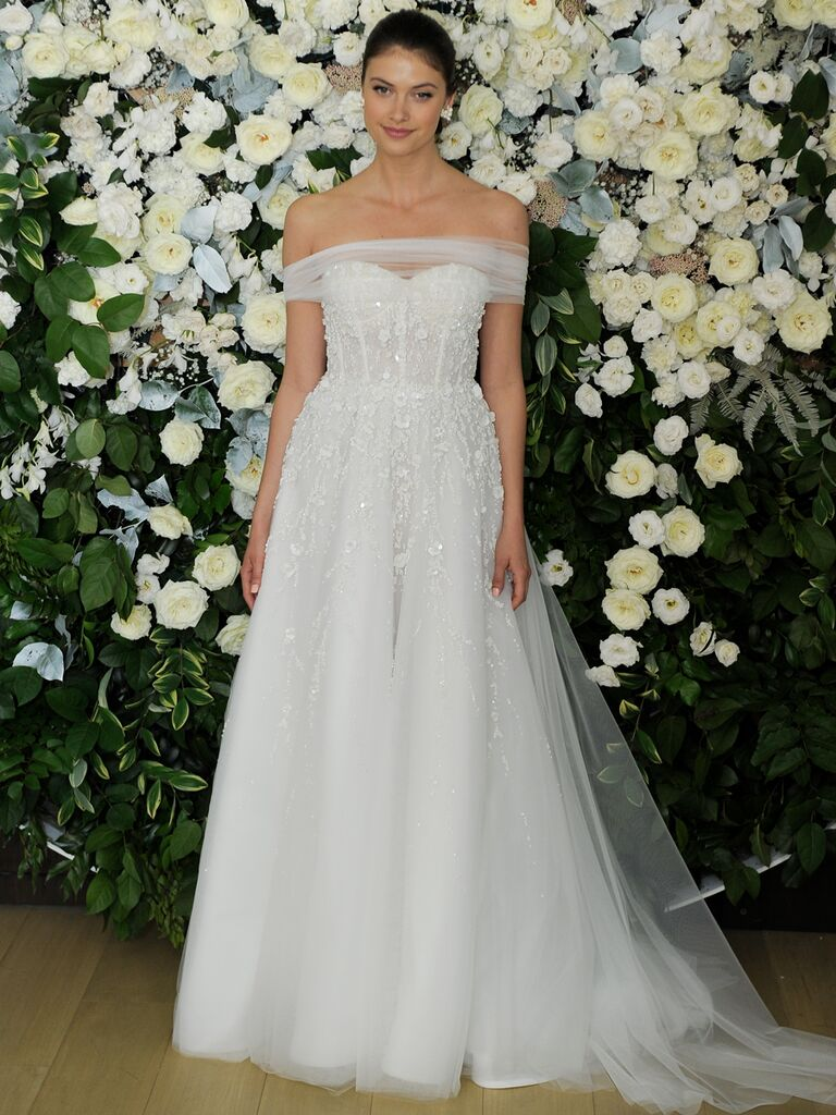 f1b44f04e96 Anne Barge Spring 2019 Collection full A-line wedding dress with tulle  of-the