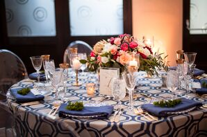 Geometric Navy Table Linens