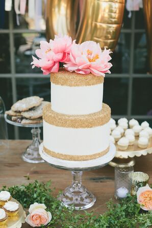 Whimsical, Sugar-Dusted Wedding Cake