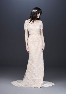 David's Bridal Galina Style V3958 Sheath Wedding Dress
