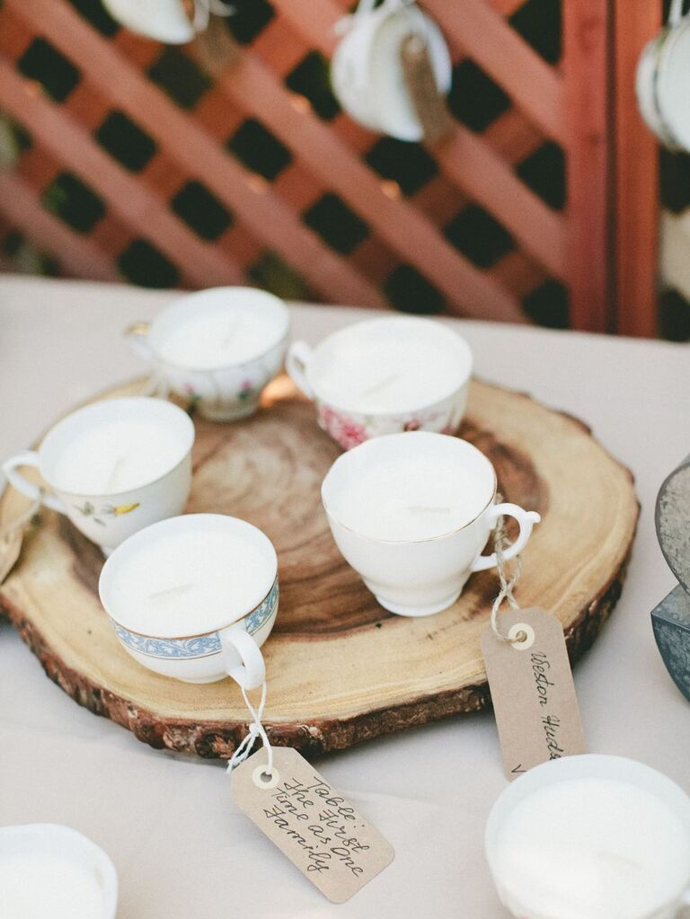 Teacup Candle Escort Cards