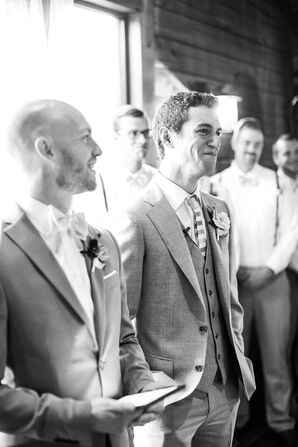 Gray Three-Piece Traditional Groom's Suit