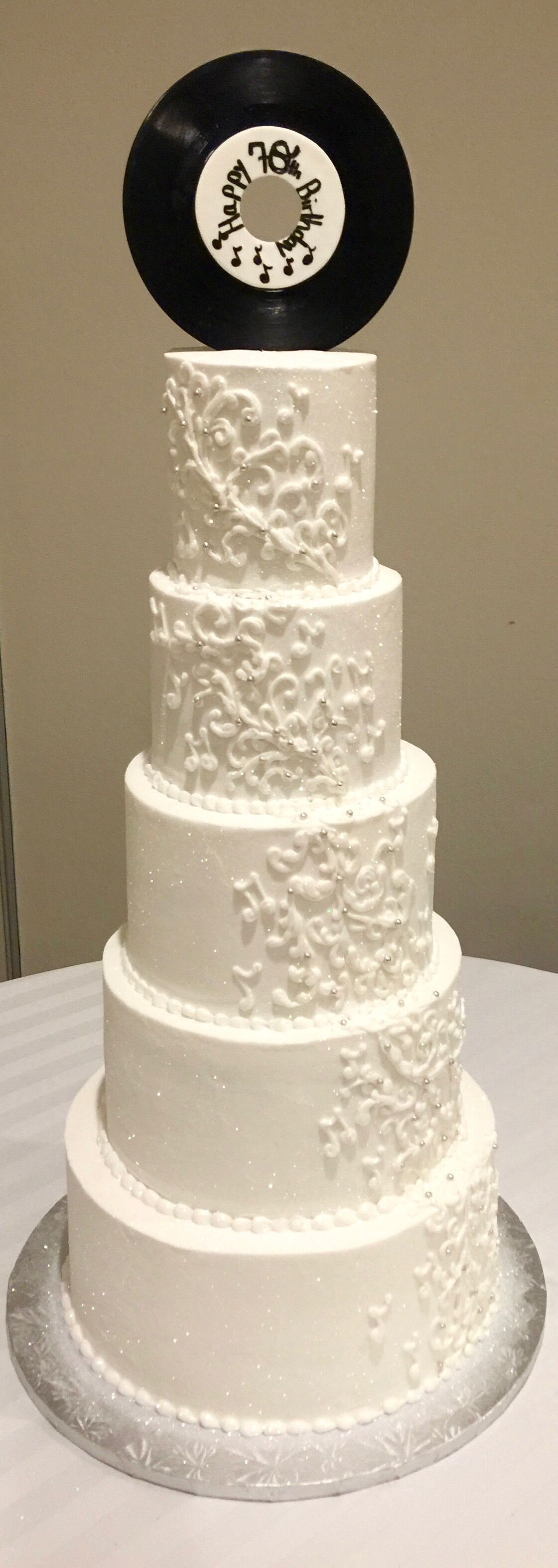 Sweet Simple Wedding Cake Blossoms In Greensboro Nc