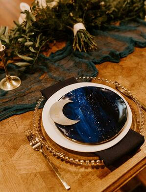 Celestial-Inspired Place Setting with Moon Detail