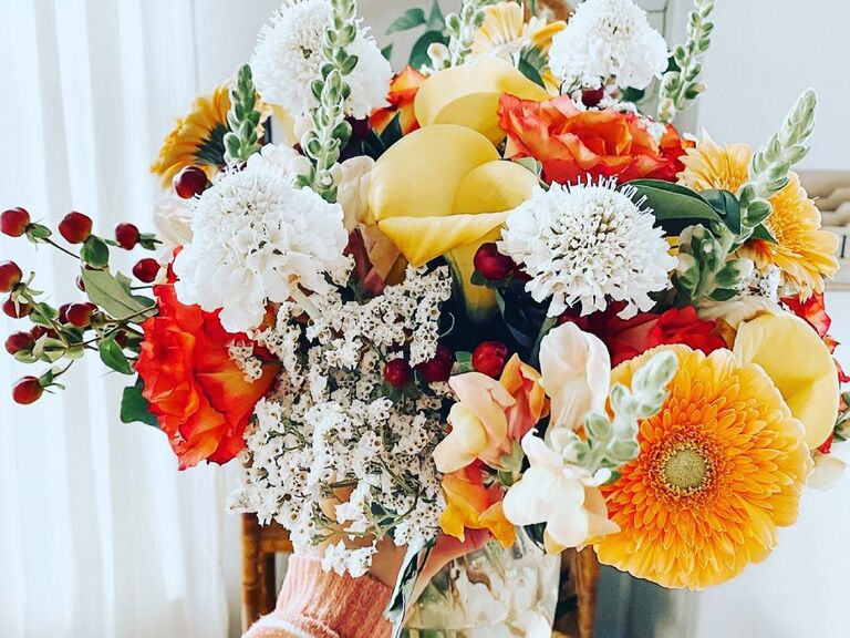 Bouquet of bright. colorful flowers