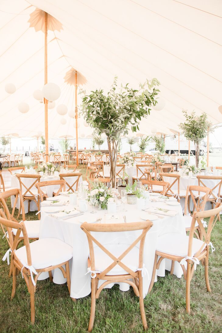 Tall Fresh Greenery Centerpieces