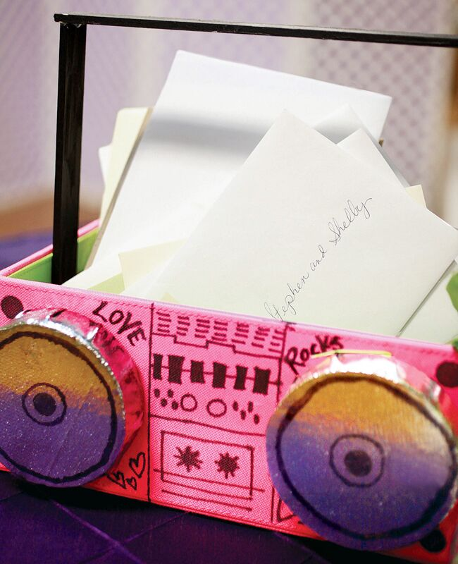 music wedding card box