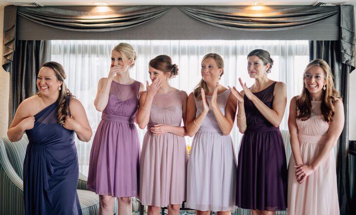 fe71e5c4021f Bridesmaid Dresses in Shades of Purple and Blush